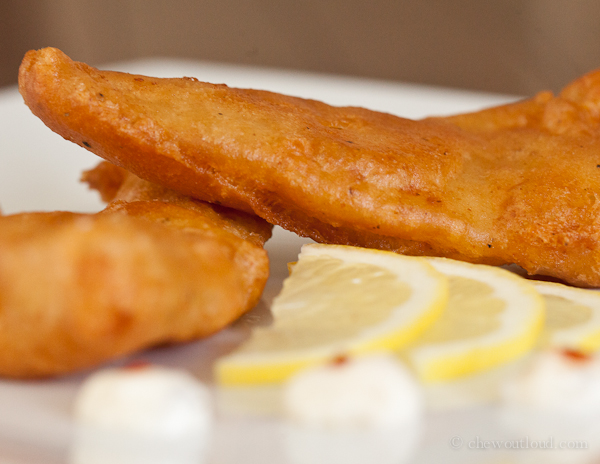 beer battered fish chew out loud