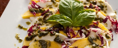 Mango Caprese with Basil