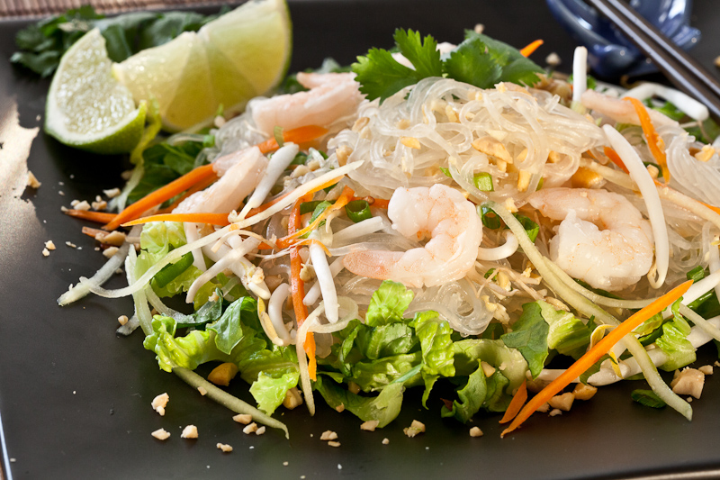 Asian Glass Noodle Salad – light, refreshing, cool summer meal