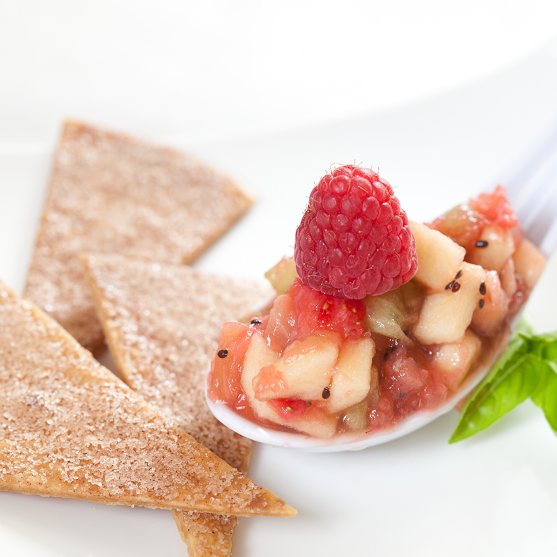 Fruit Salsa and Cinnamon Sugar Chips