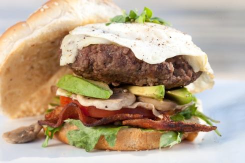 Egg Burger Roasted Garlic Mayo