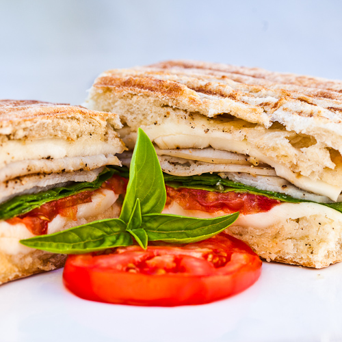 Turkey Panini with Spinach and Garlic Butter