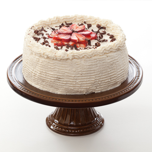 Layered Chocolate Cake With Strawberries
