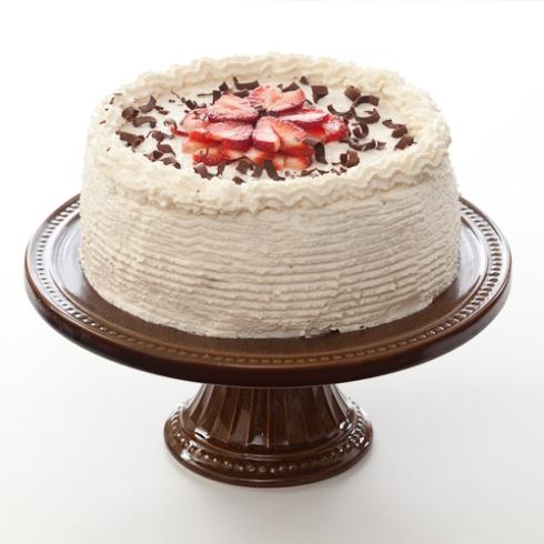 Layered Chocolate Cake with Strawberries