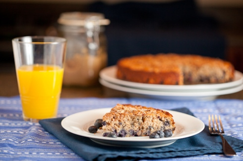 Bluberry Spice Breakfast Cake