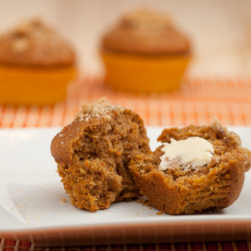 Sweet potato cinnamon muffins