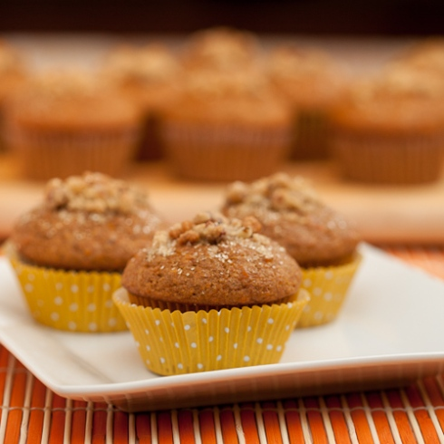 sweet potato cinnamon muffins with brown sugar