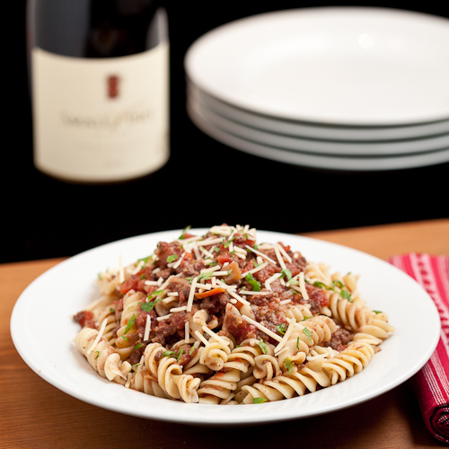 Pasta Bolognese with Sausage