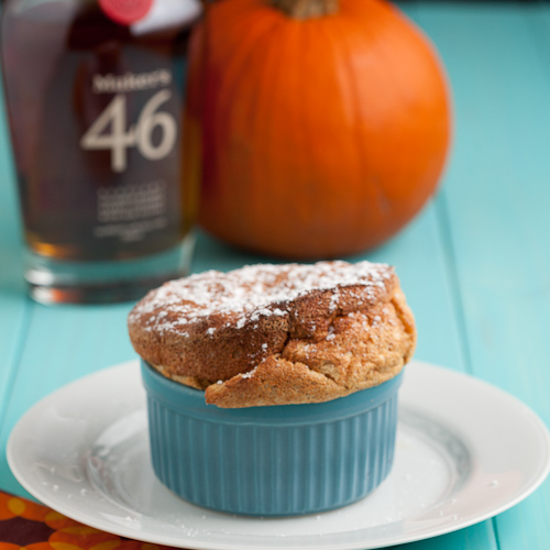 Pumpkin Souffle with Molasses Bourbon
