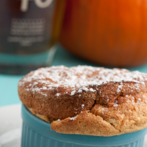 Pumpkin Souffle with Molasses Bourbon