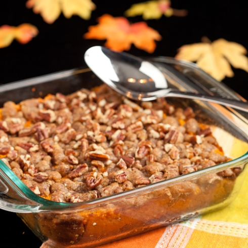 Sweet Potatoe Casserole with Brown Sugar Crumble