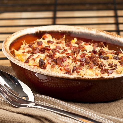 Cheesy Ham 'n Hash Brown Bake
