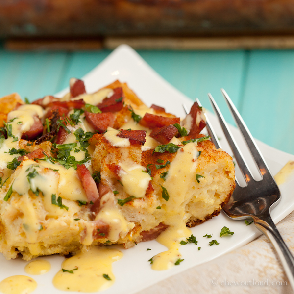 Eggs Benedict Casserole - Chew Out Loud