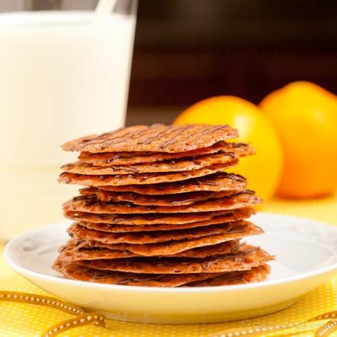 Orange Chocolate Lace Cookies