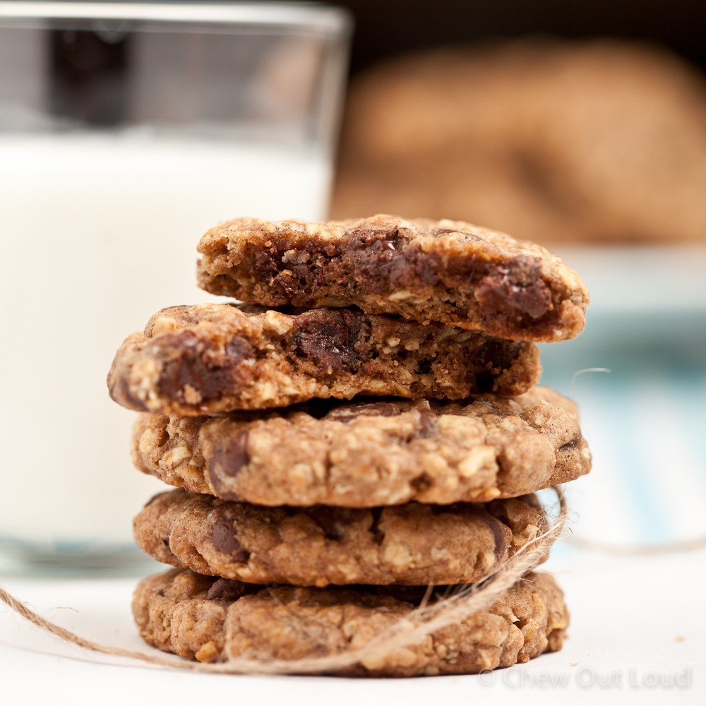 Chewy Oatmeal Chocolate Chip Cookies 2