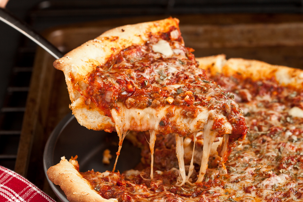 Deep Dish Pizza - Chicago Style - Chew Out Loud