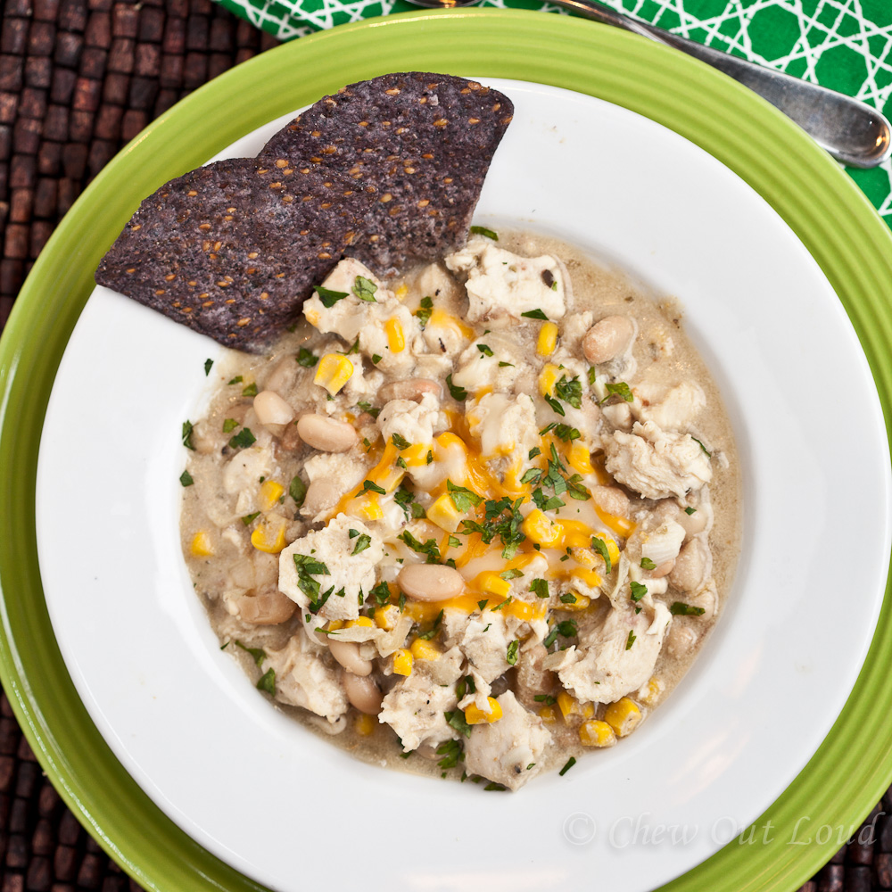 Hearty White Chicken Chili - Chew Out Loud
