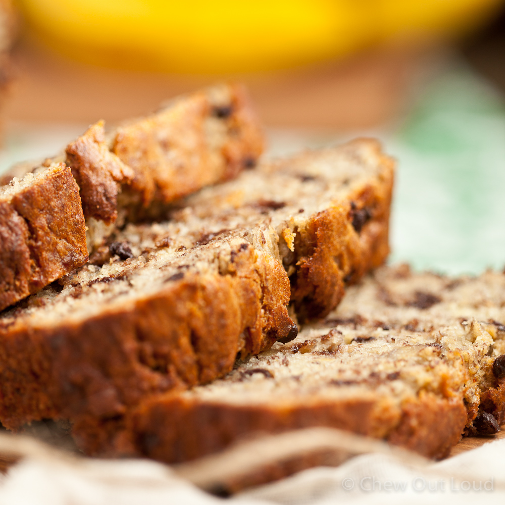 Yogurt Banana Chocolate Bread - Chew Out Loud