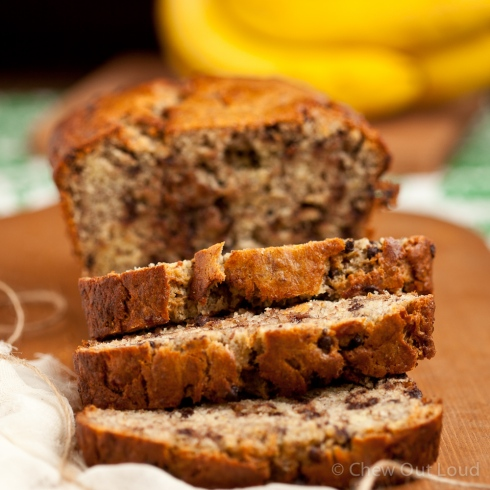 Yogurt Banana Chocolate Chips Bread 3