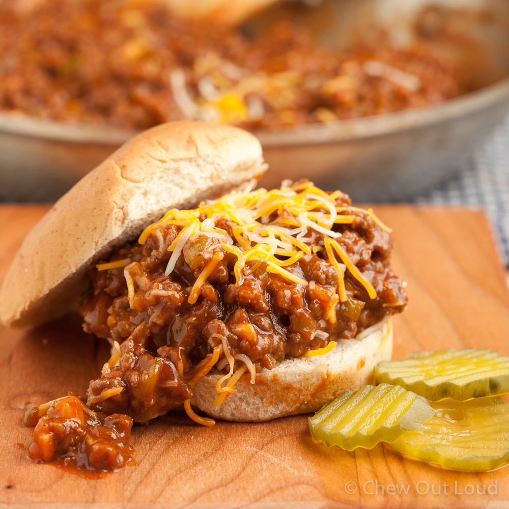 Hearty Sloppy Joes - Chew Out Loud