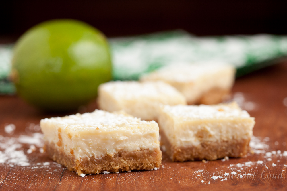 ... lime bars. Luscious, because they are unbelievably and unforgettably