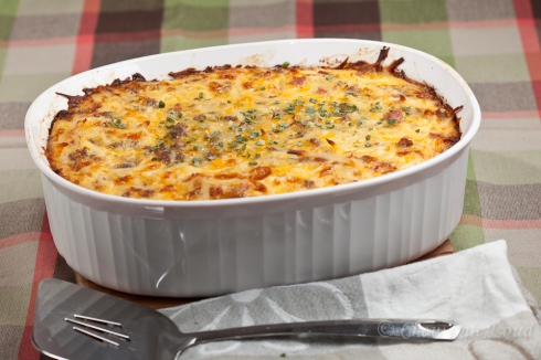 Cheesy Potato and Sausage Bake
