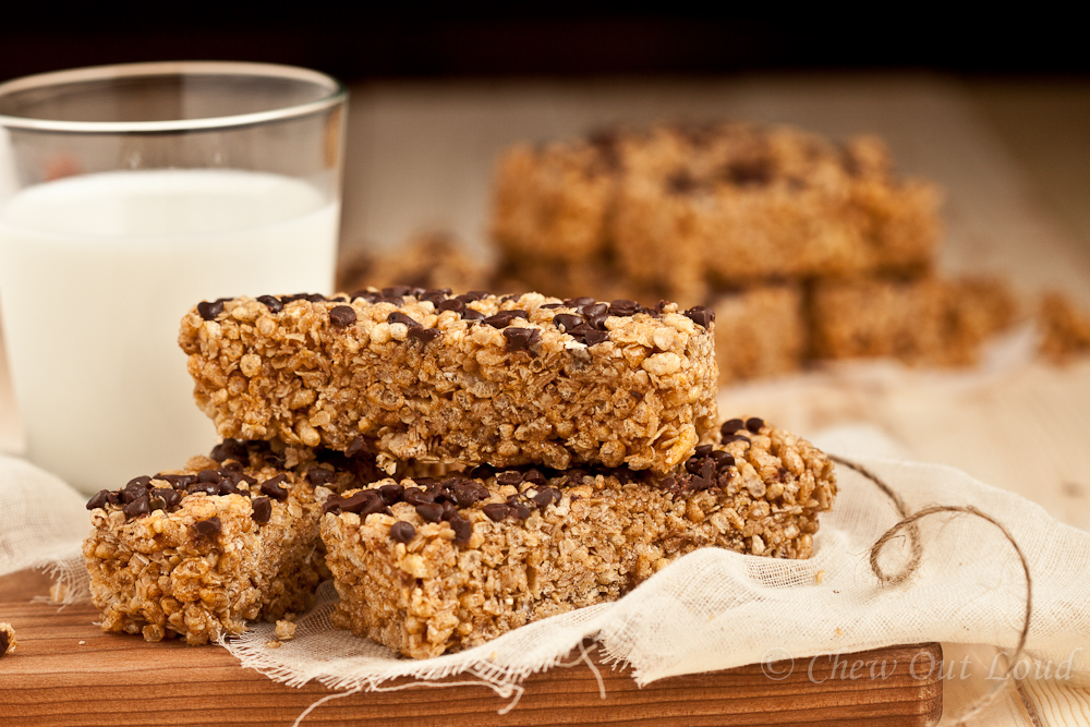 Chocolate Chip Granola Bars Recipe — Dishmaps