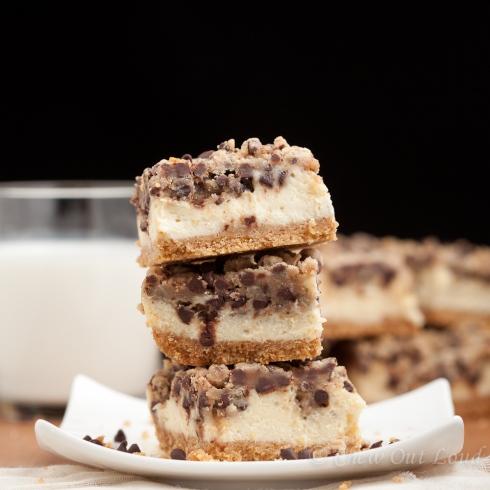 Chocolate Chip Cookie Cheesecake bars 2
