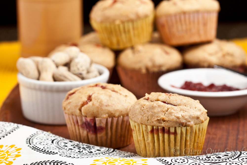 Peanut Butter and Jelly Muffins - Chew Out Loud