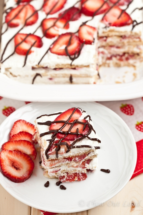 Strawberry Icebox Cake 3